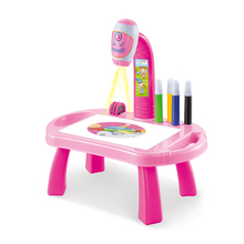 Toy-Board Table-Toys Crafts Projector Painting Desk-Arts Educational-Learning-Toy EM88