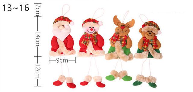 New Year 2020 Cute Santa Claus/Snowman/Angel Christmas Dolls Noel Christmas Tree Decoration for Home Xmas Navidad 2019 Kids Gift 20