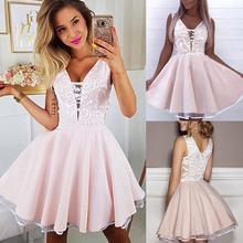 Suknie balowe suknie ślubne sukienki druhen różowa dekolt kwiatowy suknia ślubna z haftem suknia ślubna bez rękawów suknia panny młodej D30 tanie tanio DYMADE Powyżej kolana Mini Suknia balowa V-neck Dla dorosłych 862543 empire