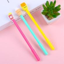 3 pcs Kawaii novel ice cream fries cola black gel pen Student writing blue neutral pen Office School Supplies Pen gift цена