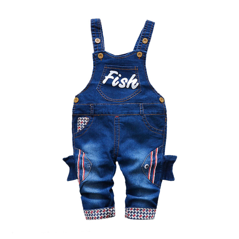 Children's Denim Overalls Baby Jeans Pants Baby Boys Girls Trousers Infant Clothing Toddler Babies Pants Little Kids 1-3 Years 3