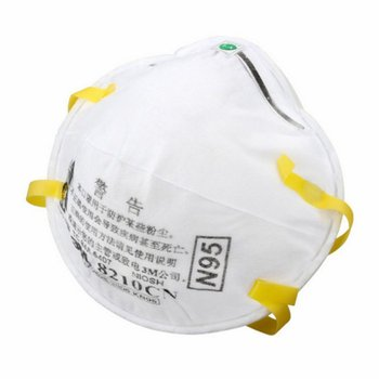 3M 8210 N95 Mask for Protection from Dust Particles and Flu with Adjustable Metal Nose Clip