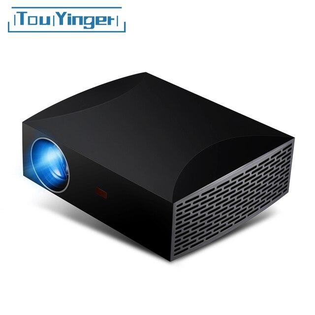 Touyinger f30 1080p completo projetor hd 5500 lumens 1920x1080 resolução led f30up projetor para o beamer vídeo de cinema em casa 3d hdmi
