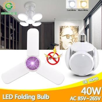 цена на E27 LED Bulb 40W 9W AC 85-265V Cold White Warm White Bombilla led Spotlight Lampada LED light football UFO lamp indoor lighting