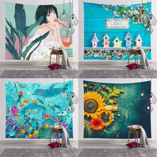 Tapestry Wall Hanging Polyester Indian Pattern Blanket Home Decoration Yoga Multifunction Mat Small colorful large hanging funny text party decoration tapestry wall hanging blanket yoga beach mat home decor house decoration