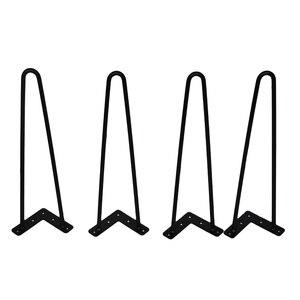 Image 1 - 4 Stuks 4 28 Inch Metalen Haarspeld Tafel Bureau Been Effen Ijzerdraad Ondersteuning Been Voor Bank Kast Stoelen diy Handcrafts Meubels Hardware