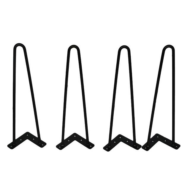 4 Stuks 4 28 Inch Metalen Haarspeld Tafel Bureau Been Effen Ijzerdraad Ondersteuning Been Voor Bank Kast Stoelen diy Handcrafts Meubels Hardware