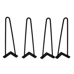 4Pcs 4-28 Inci Jepit Rambut Logam Meja Meja Kaki Besi Padat Kawat Dukungan Kaki untuk Sofa Kabinet Kursi DIY Kerajinan Tangan Perangkat Perabot