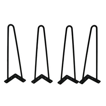 4Pcs 4-28inch Metal hairpin table Desk leg solid iron wire support leg for Sofa cabinet Chairs DIY Handcrafts Furniture hardware