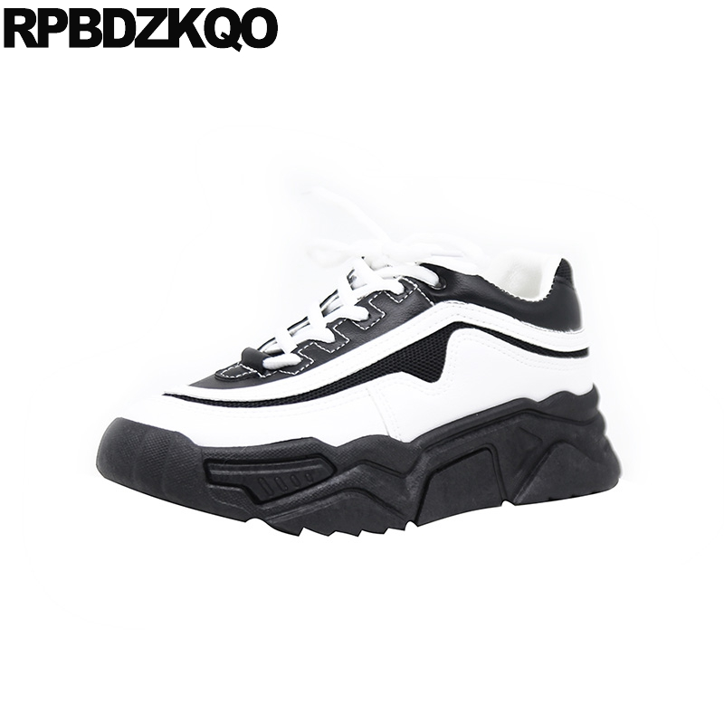 trainers sneakers flats designer creepers platform shoes women elevator muffin lace up black china fashion shallow thick sole