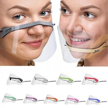 1PC Face Visor Adult Mini Shield Washable Reusable Comfortable mascara transparente proteccion PVC Visual Face Protect Screen