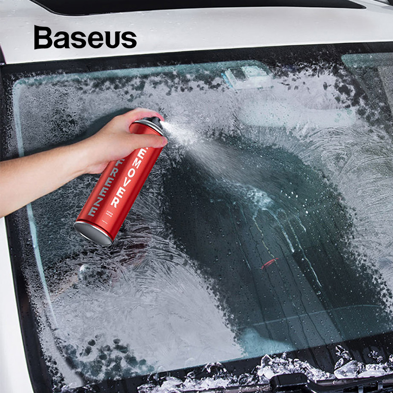 Baseus 550ML Car Snow Deicing Agent Melts Ice Snow Removal Agent Auto Car Windows Windshield Car Ice Scraper Removal Spray