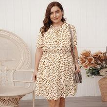 WANYUCL 2021 Новое Женское Платье на весну лето с принтом свободная темпераментная юбка для женщин