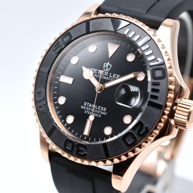 Noctilucous daydate sport top brand automatic mens watches dropshipping PETER LEE silicone band men mechanical wristwatch Innrech Market.com