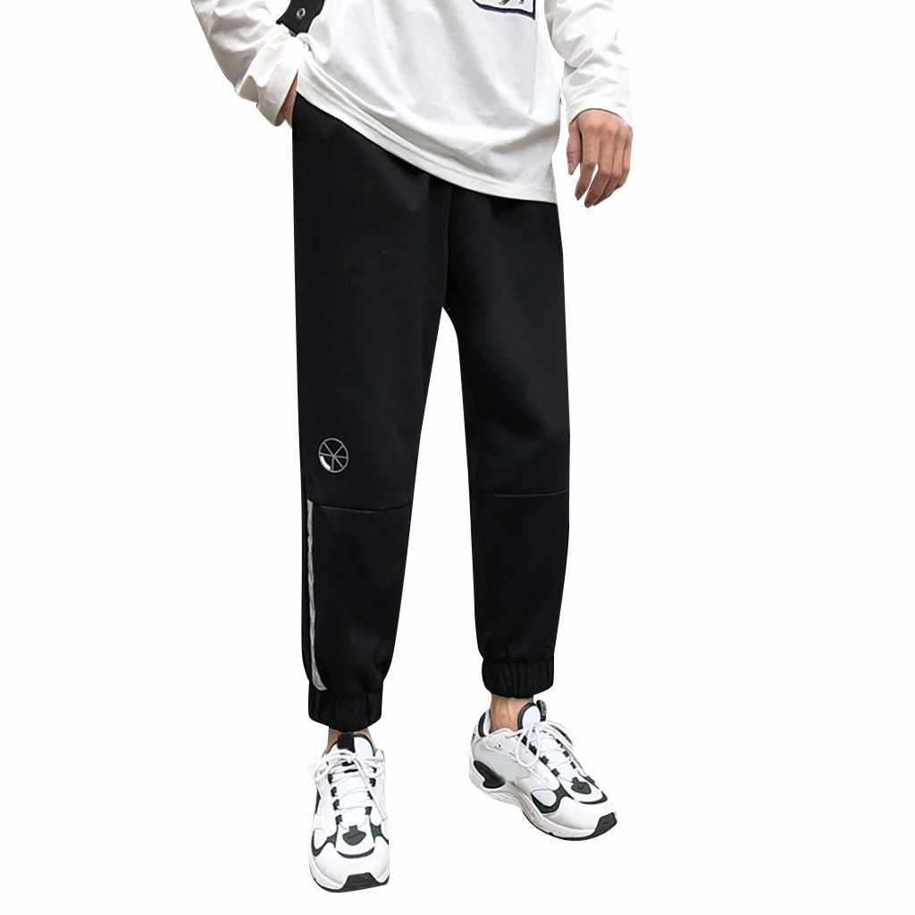 2019 Mode Mannen Broek Mannen Zomer Effen Kleur Casual Broek Fitness Broek Fitness Broek Lange Broek Moletom Masculino GH50
