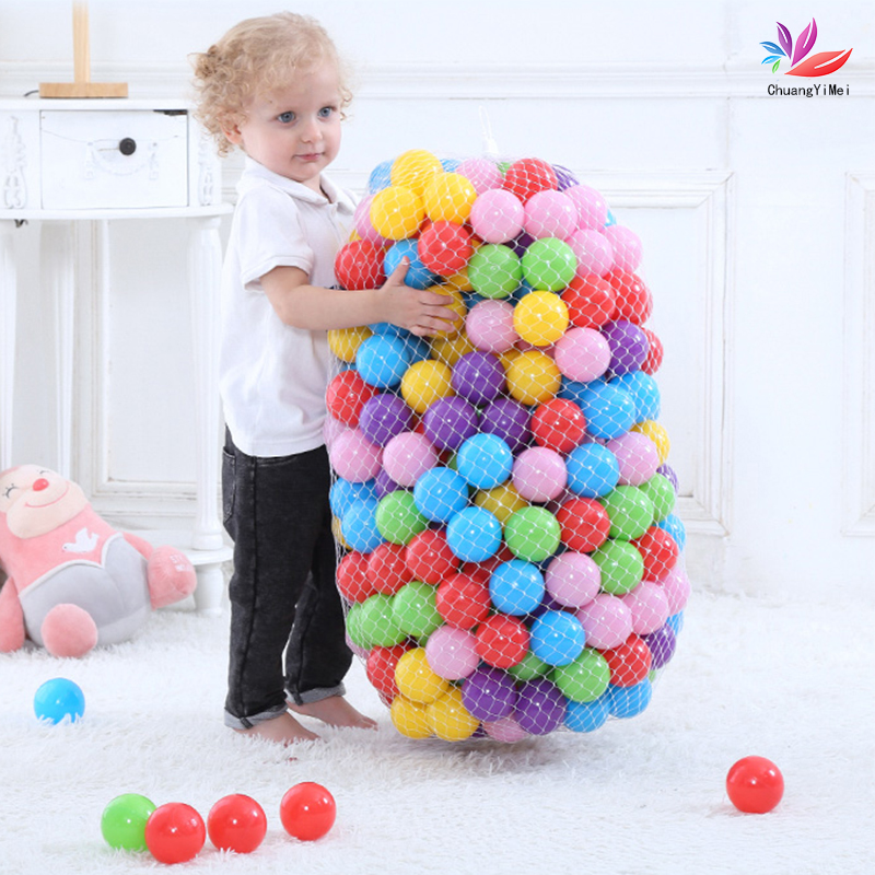 Colorful Baby Plastic Balls Water Pool Ocean Wave Ball Funny Kid Swim Toy Pit Eco-Friendly Ball With Play House Outdoor Tent Toy