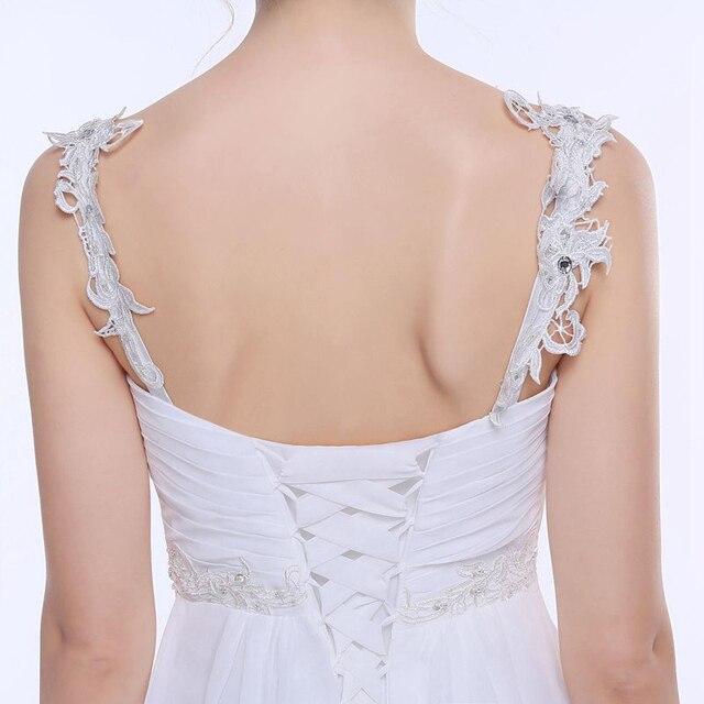 Jiayigong Beach Wedding Dress vestido de noiva In Stock Plus Size Spaghetti Straps Beading Chiffon Wedding Gowns Bridal Dresses 6