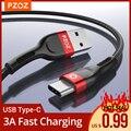 PZOZ usb type c быстрая зарядка провод для зарядки Тип-c кабели для мобильных телефонов шнур для зарядки для xiaomi mi 10 9 a3 redmi Note 9s 8 K30 pro samsung S10 S9 plus Nnote 10 ...