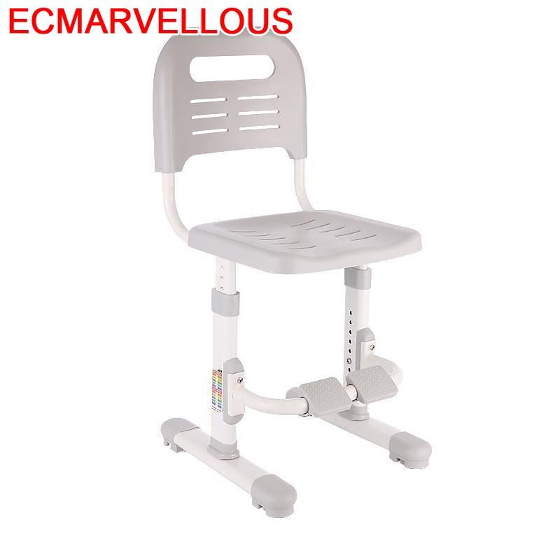 For De Estudio Silla Infantiles Table Pouf Dinette Kids Chaise Enfant Cadeira Infantil Baby Furniture Adjustable Children Chair
