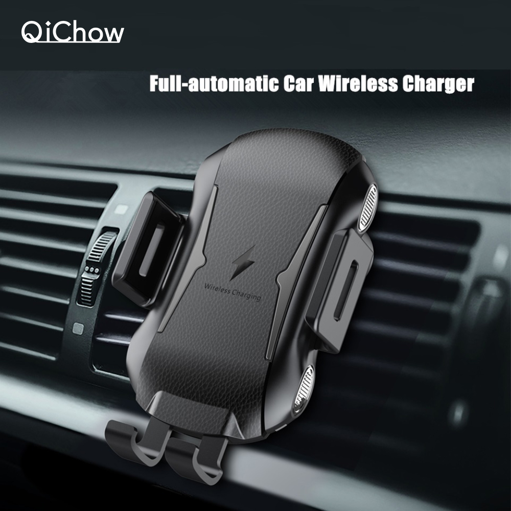 New Full Automatic 10W Qi Fast Charging Car Phone Holder Car Mount Wireless Charger For Huawei IPhone Samsung Car Phone Bracket