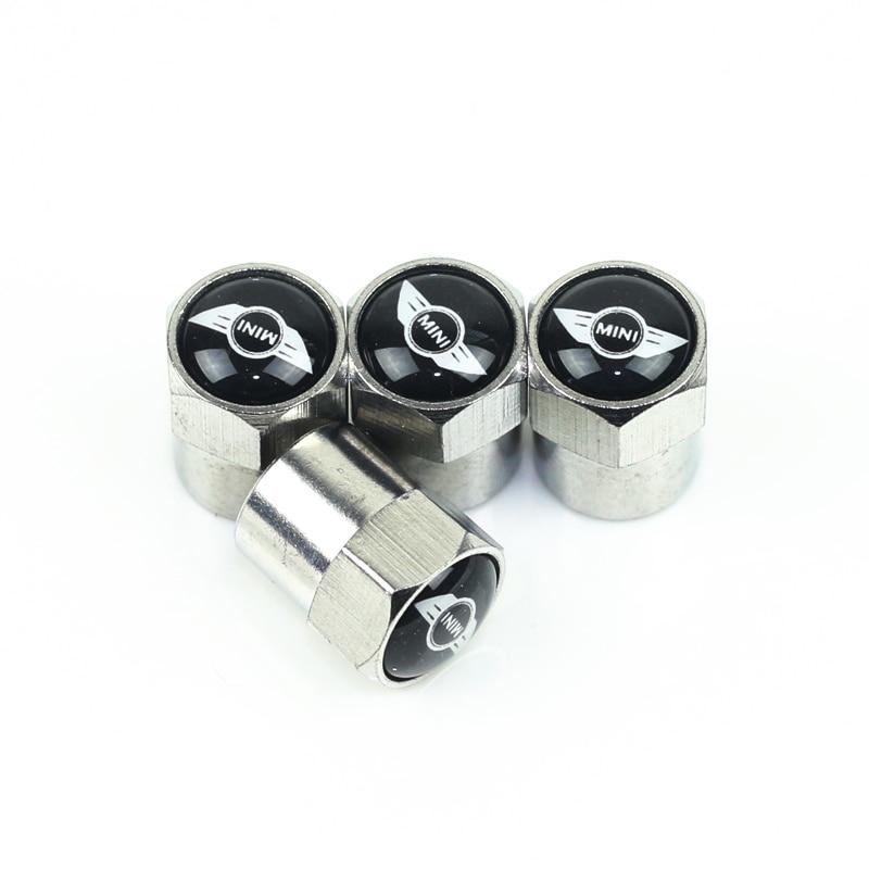 4Piece/set Sport Styling Auto Accessories Car Wheel Tire Valve Caps Case For MINI