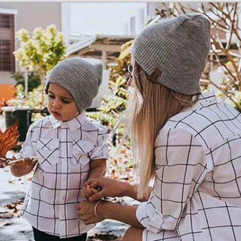 Hat Caps Wool-Hats Girls Winter Boys Children Women Warm Autumn Beanie Crochet Knitted