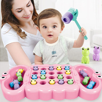 Baby Catch Board Game Fun Eating Beans Parent-child Interactive Puzzle Toys Educational Party Game Children Toy Birthday Gift plastic toy baby birthday gift desktop funny game tabletop shoot football fossball family parent child interactive educational