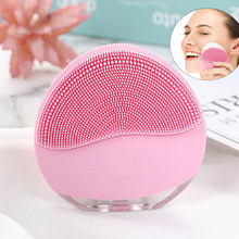 Rechargeable Facial Cleansing Brush Sonic Vibrating Face Cleaner Silicone Deep Pore Electric Waterproof Massage Soft