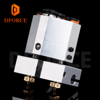 DFORCE customise your dual extrusion+ chimera+ water cooled for 3d printer for e3d hotend titan extruder 3d touch nozzle mellow 3d printer extrusion e3d cyclops