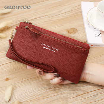 New wallet Korean style genuine leather long first layer cowhide wallet large capacity zipper handbag for women - DISCOUNT ITEM  47 OFF All Category