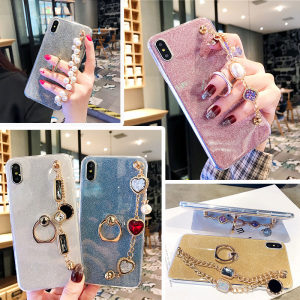 for Xiaomi Redmi 7 7A 8 8A Note 8 Pro 8T 5 6 7 5A 4 4X 4A 5 Plus Bling Ring Rhinestone Case Cover(China)