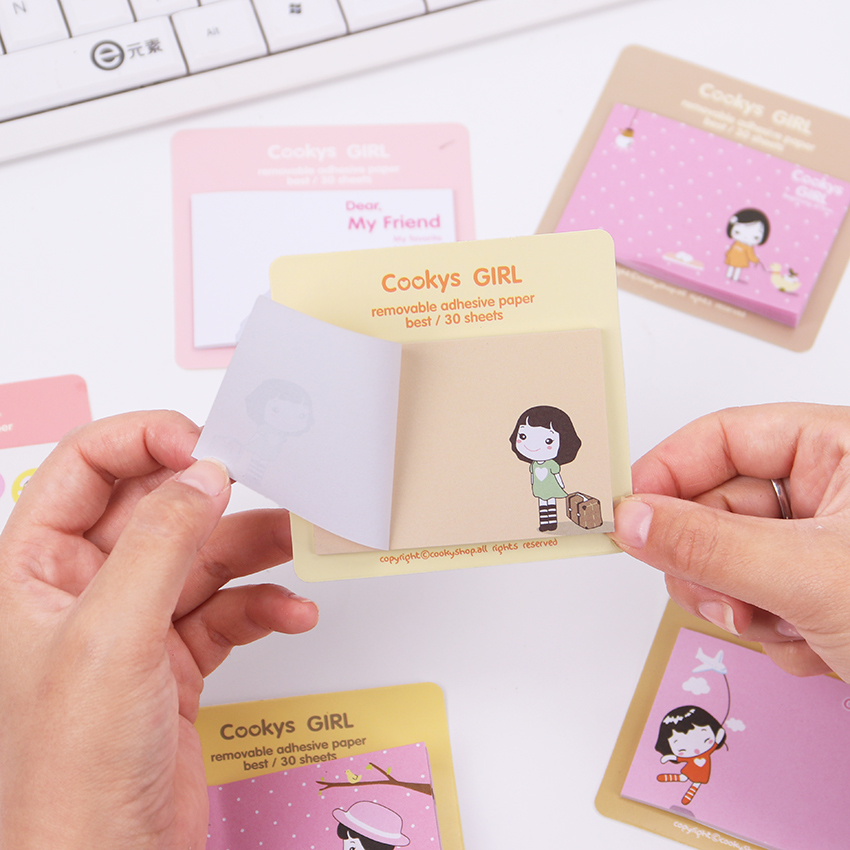 Korean Stationery Memo Pads Cute Convenience Scrapbooking Sticker Sticky Memo Pads Stationery Notebook Office Supplies 1PC