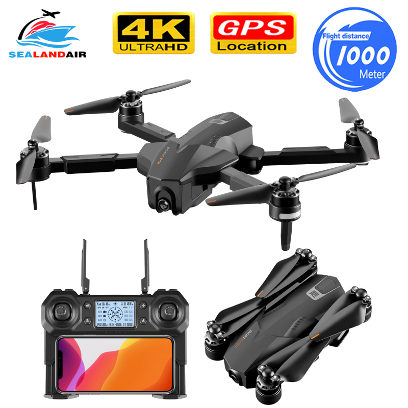 1KM Foldable GPS Drone Camera HD ESC 5G WIFI FPV 30Mins Flight Time RC Quadcopter Profissional Follow Me Brushless 4K Drone RTF