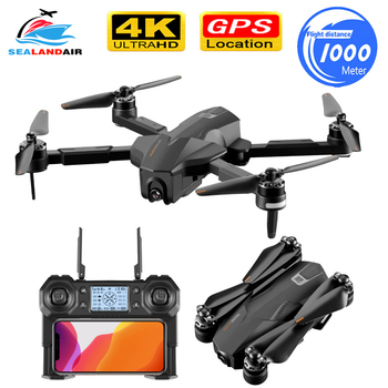 1KM Foldable GPS Drone Camera HD ESC 5G WIFI FPV 30Mins Flight Time RC Quadcopter Profissional Follow Me Brushless 4K Drone RTF 4 axis gps mini drone helicopter parts arf diy kit gps apm 2 8 flight control emax 20a esc brushless motor