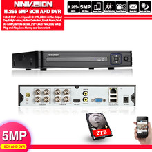 H.265 AHD 5MP 1080P 4CH 8CH CCTV AHD DVR Mini DVR NVR para CCTV Kit VGA HDMI de Audio sistema de seguridad AHD CVI TV cámara IP Onvif(China)