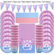 65 шт одноразовые тарелки для мальчиков и девочек
