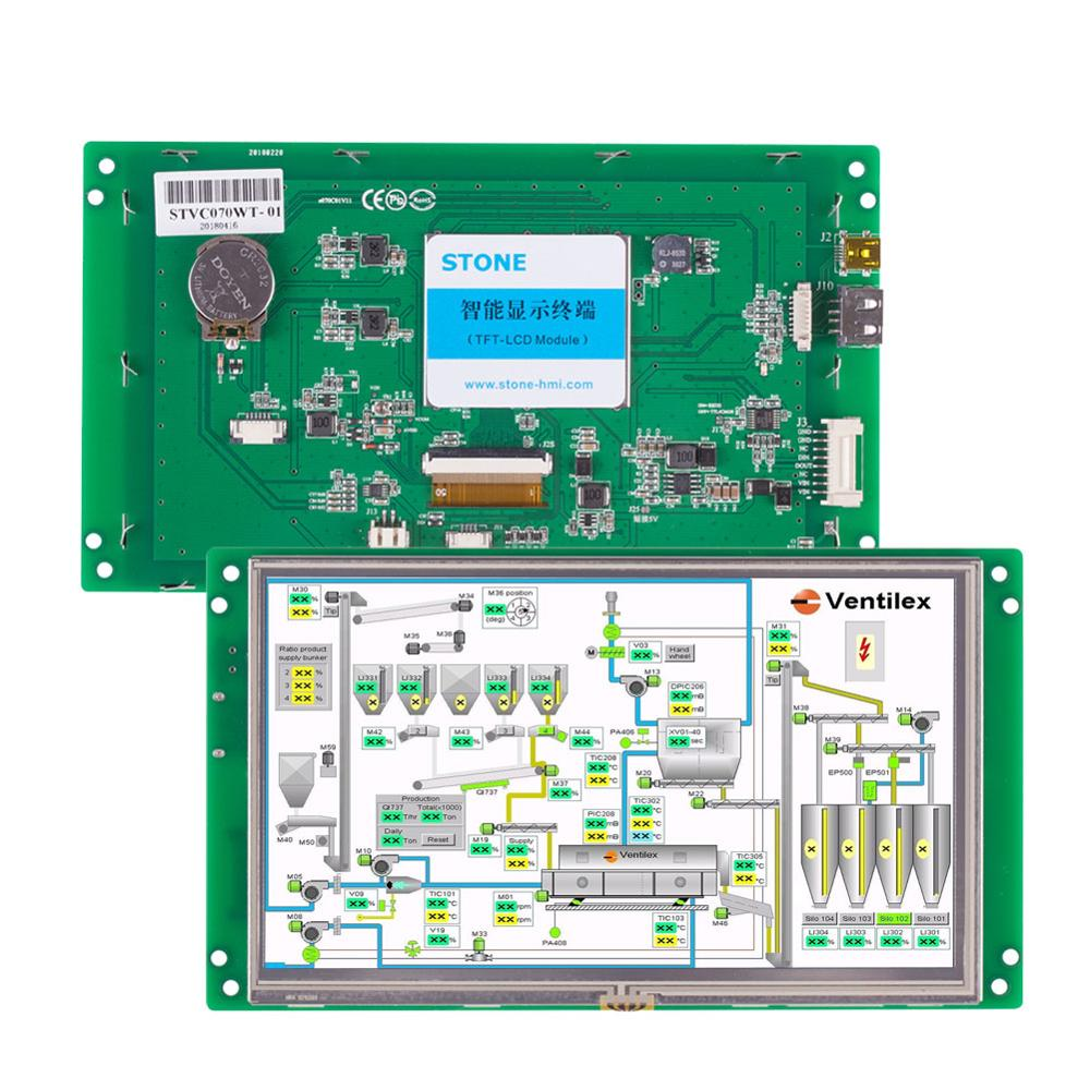 STONE 7.0 Inch HMI TFT LCD Display Module With Serial Interface+Program+Software For Equipment Use