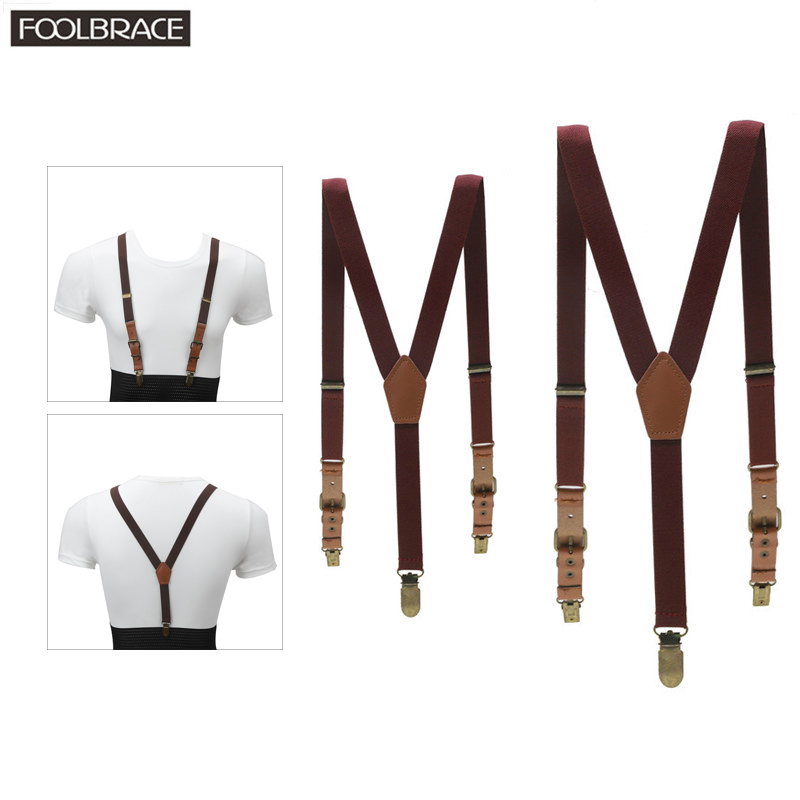 Parent-Child Style Soild Color Children/Adult Belt Baby Boys Girls  Adjustable  Suspenders 3 Clip-on Y-back Braces  Elastic