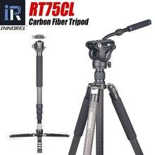 Innorel rt75cl 10 camadas de fibra carbono tripé profissional monopé com cabeça bola para câmera dslr 20kg carga máxima 172cm altura máxima