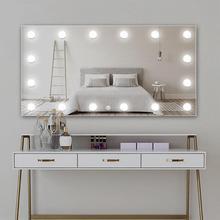 Maquillaje LED espejo bombilla Hollywood Vanity Lights 10 bombillas Kit regulable tocador cosmético lámpara de pared para tocador