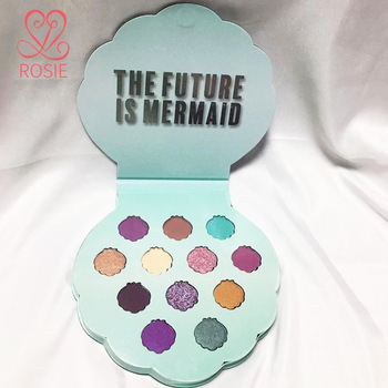 Nude Mermaid EyeShadow Palette 12 Color Pressed Glitter Shimmer Matte Eyeshadow Pallete Highly Pigmented Makeup Palette Cosmetic beauty glazed gorgeous me eyeshadow pallette nude glitter ultra pigmented powder shimmer matte eyeshadow makeup palette cosmetic