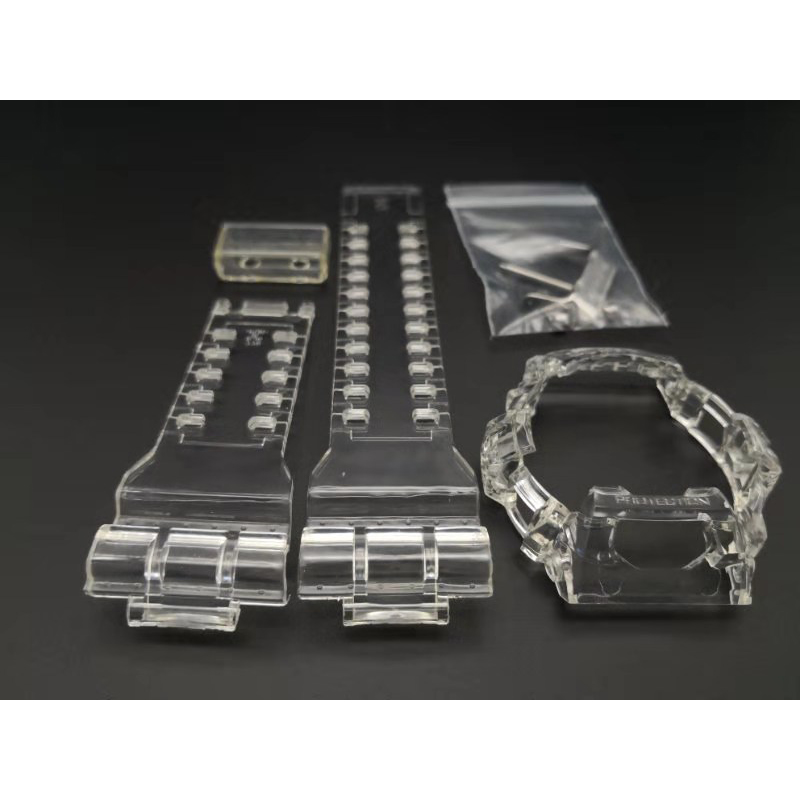 Ice Transparent Watchband Strap And Bezel For G-8900 GR-8900 GW-8900 GWX-8900 Watch Bracelet With Metal Clasp Gift For Man