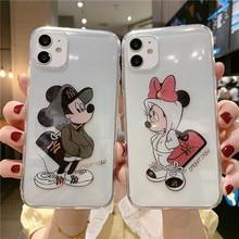 Disney için iPhone 7/8/artı X/XS/XR/XS Max 11/11 Pro /11Pro max/12/12pro Mickey Minnie telefon kılıfı