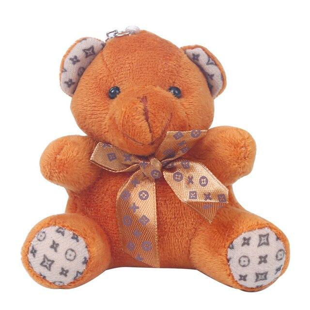 Купить модный милый плюшевый помпон для девочек брелок в виде медведя картинки