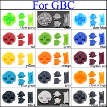YuXi 15 Colors Buttons for GBC A B D-Pad Buttons with Power ON/OFF Buttons Keypads For Gameboy Color Game Console Accessories