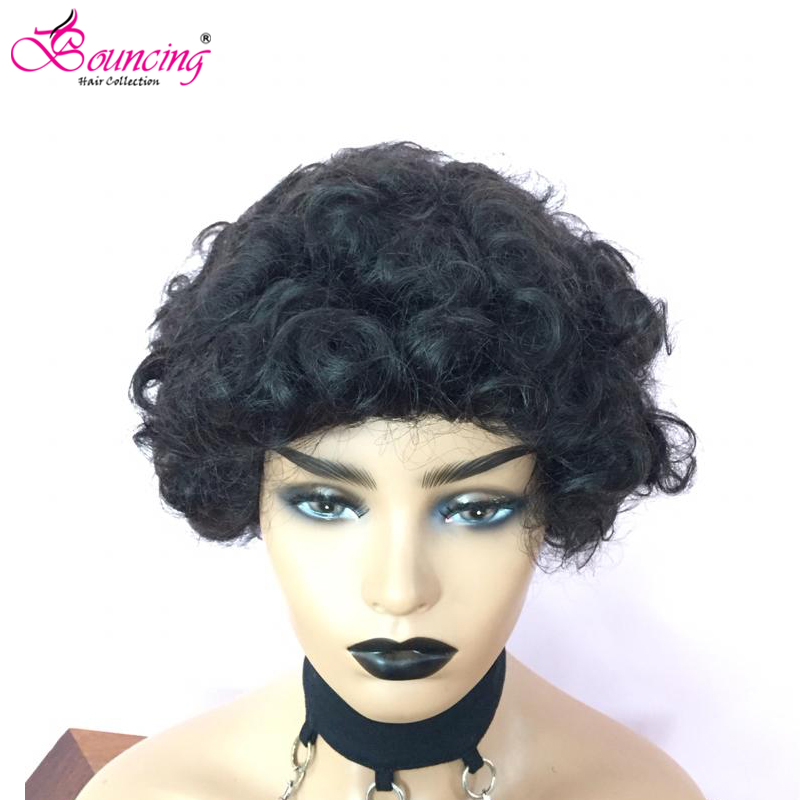 Bouncing Full Machine Human Hair Wigs Curly Wigs For Women 100% Remy Human Hair Brazilian Human Hair Wigs