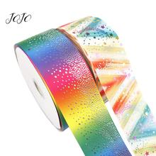 JOJO BOWS 75mm 2y Grosgrain Ribbon Colorful Star Printed Webbing Materials For Sewing DIY Hair Bows Accessories Party Decoration
