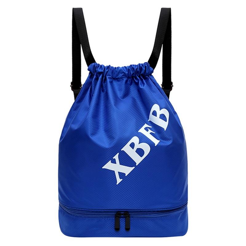 Dihope Waterproof Bag Swimming Backpacks Double Layer Drawstring Sport Bag Shoulder Bags Water Sports Travel Portable Bag