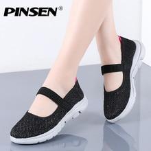 PINSEN 2020 New Summer Women Flats Shoes