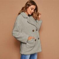 Abrigo doble botón Teddy Coat manga larga 5